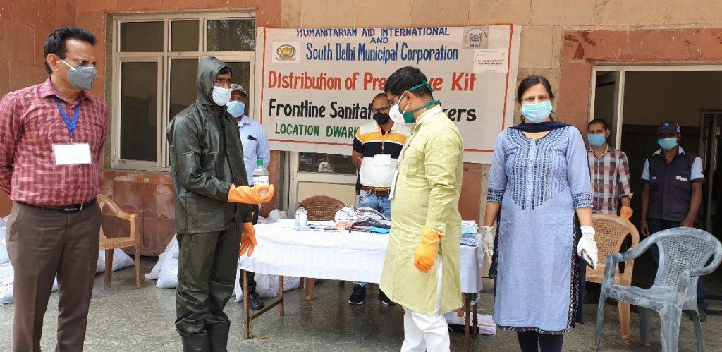 HAI aiding the frontline sanatization workers