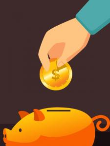 donate piggy bank saving