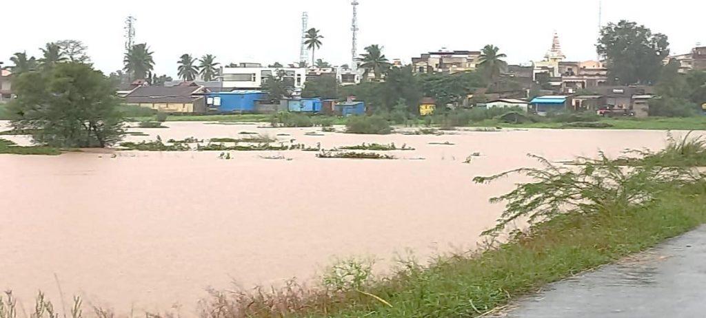 Flood affected areas in Akhiwat Block, Shirol District, Kolhapur, Maharashtra 2021