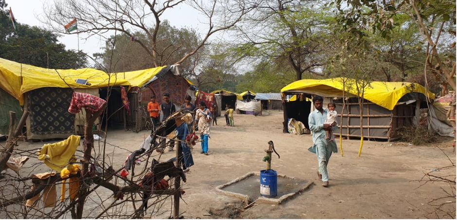 Pak Hindu refugee camp at Signature Camp, New Delhi
